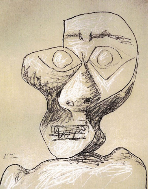 picasso self portrait 90 years old july 2 1972 Picassos Self Portraits from 15 Years Old to 90 Year Old