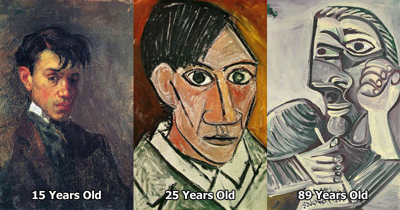 picasso self portraits over the years Picassos Self Portraits from 15 Years Old to 90 Year Old