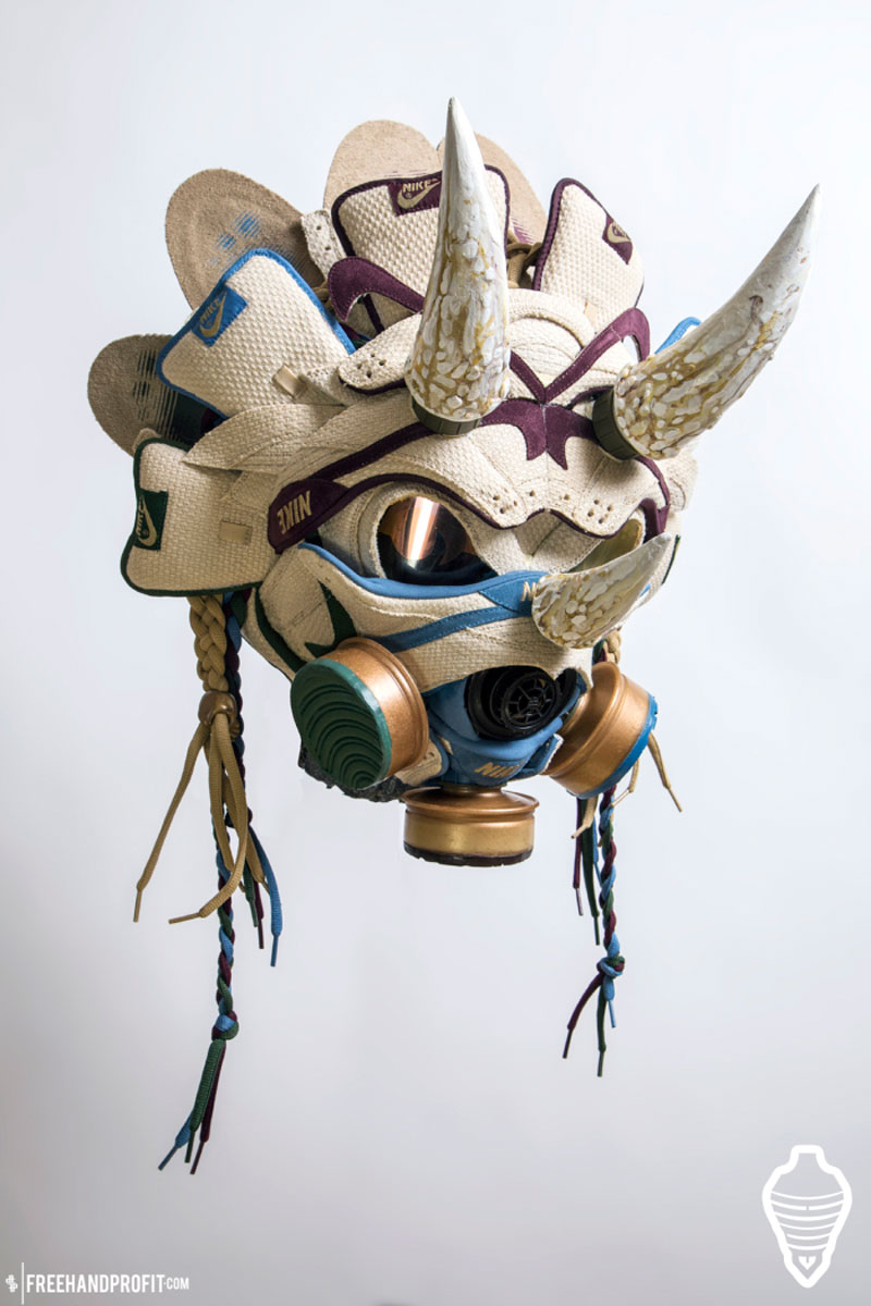 sneaker gas masks by freehand profit gary lockwood 11 Send This Guy Your Kicks and Hell Turn Them Into a Crazy Mask