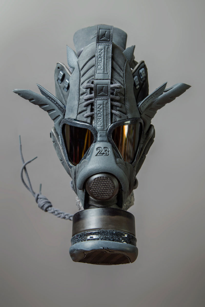 sneaker gas masks by freehand profit gary lockwood 12 Send This Guy Your Kicks and Hell Turn Them Into a Crazy Mask