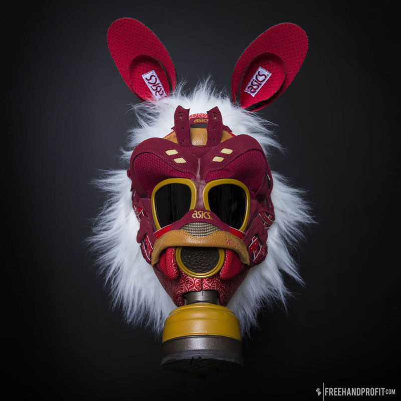 sneaker gas masks by freehand profit gary lockwood 2 Send This Guy Your Kicks and Hell Turn Them Into a Crazy Mask