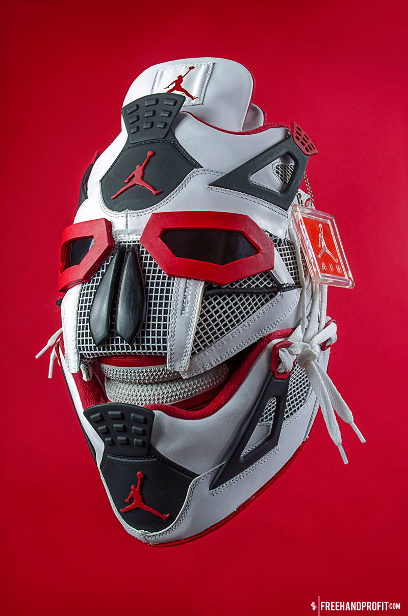 sneaker gas masks by freehand profit gary lockwood 3 Send This Guy Your Kicks and Hell Turn Them Into a Crazy Mask