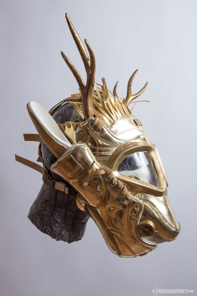 sneaker gas masks by freehand profit gary lockwood 9 Send This Guy Your Kicks and Hell Turn Them Into a Crazy Mask
