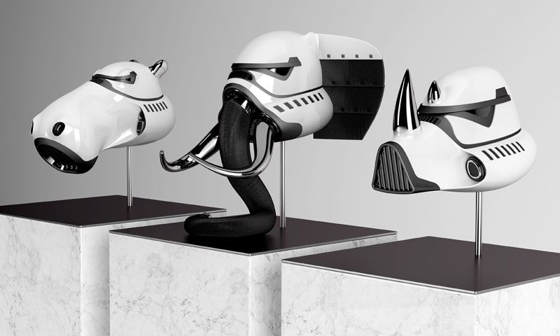 stormtrooper animal helmets by blank william 6 Stormtrooper Animal Helmets by Blank William (16 photos)