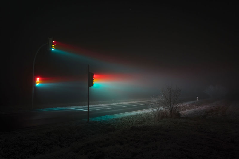 traffic lights at night long exposure by lucas zimmermann 1 Long Exposure Traffic Lights by Lucas Zimmermann