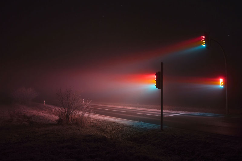 traffic lights at night long exposure by lucas zimmermann 5 Long Exposure Traffic Lights by Lucas Zimmermann