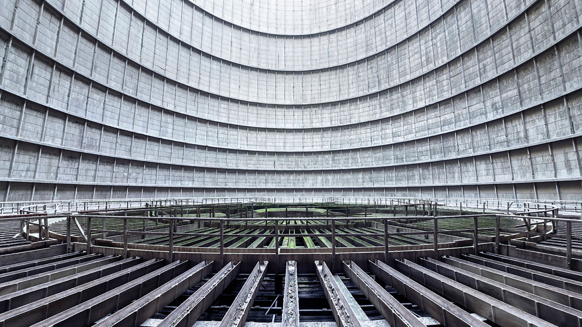 abandoned cooling towers by reginald van de velde 16 The Insides of these Abandoned Cooling Towers Look Straight Out of a Sci Fi Film