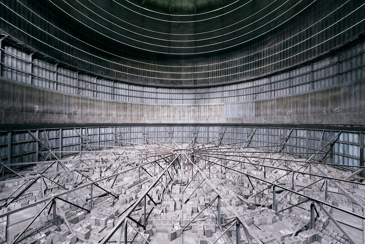 abandoned cooling towers by reginald van de velde 19 The Insides of these Abandoned Cooling Towers Look Straight Out of a Sci Fi Film