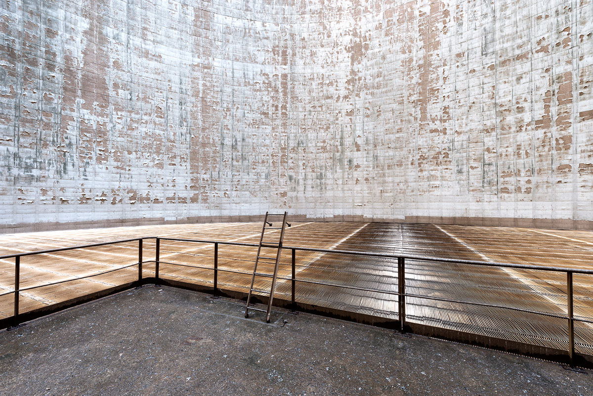 abandoned cooling towers by reginald van de velde 22 The Insides of these Abandoned Cooling Towers Look Straight Out of a Sci Fi Film