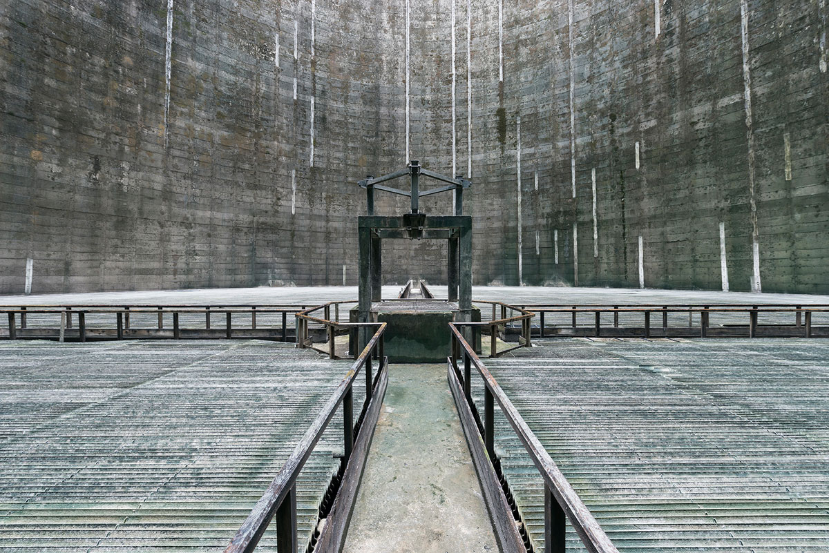 abandoned cooling towers by reginald van de velde 5 The Insides of these Abandoned Cooling Towers Look Straight Out of a Sci Fi Film