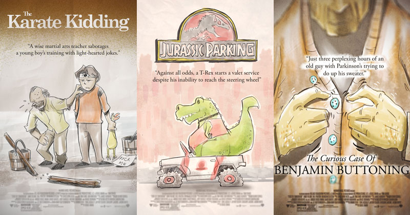 Artist Adds 'ing' to Famous Movie Titles and Illustrates the Results