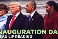 A Bad Lip Reading of Trump's Inauguration