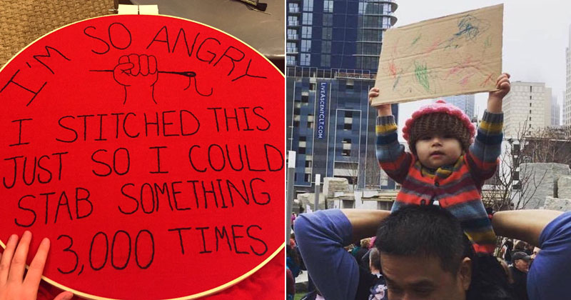50 Amazing Signs from Women's Marches Across the Globe