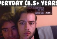 Guy Takes Selfie Every Day for 8.5 Years and Stabilizes the Results