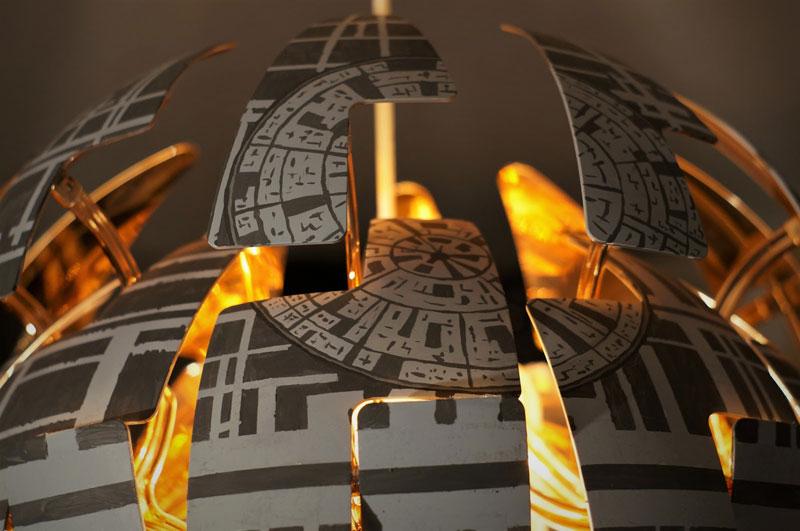 ikea death star lamp diy 11 Star War Fans Turn Popular IKEA Lamp Into Death Star