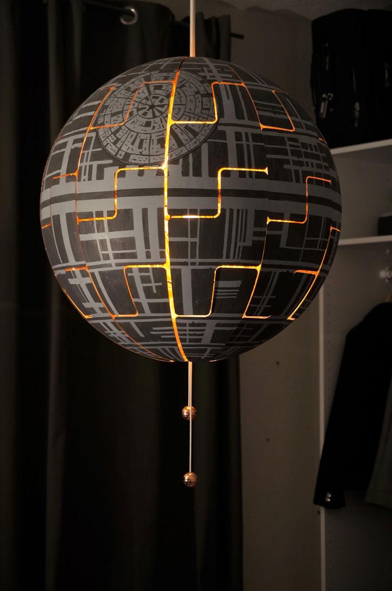 ikea death star lamp diy 12 Star War Fans Turn Popular IKEA Lamp Into Death Star