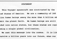 In 1977 Jimmy Carter Put This Note on the Voyager Spacecraft