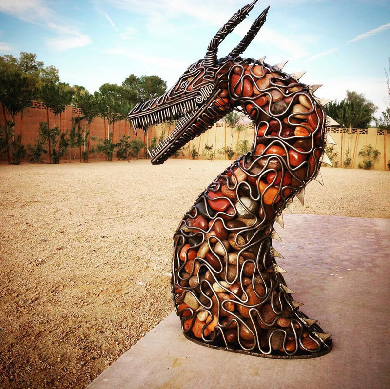 metal and river rock sculptures by ryan mccallister 10 Incredible Sculptures Made from Metal and River Rock