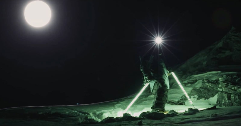 This Guy Lit Up His Skis and Poles and Went on the Most Epic Night Ride Ever