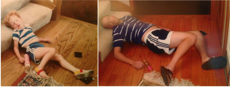 siblings recreate photos of them passed out as kids 2 These Siblings Recreated Funny Photos of Them Passed Out as Kids and Its Hilarious