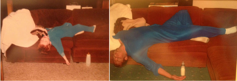 siblings recreate photos of them passed out as kids 3 These Siblings Recreated Funny Photos of Them Passed Out as Kids and Its Hilarious