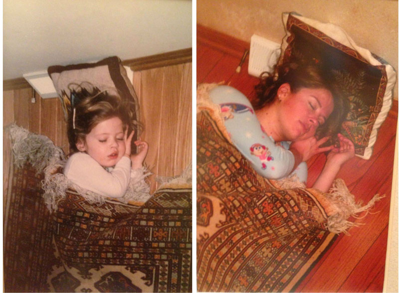 siblings recreate photos of them passed out as kids 7 These Siblings Recreated Funny Photos of Them Passed Out as Kids and Its Hilarious