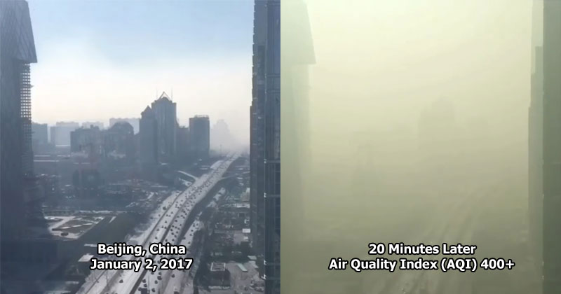 This Timelapse of Smog Engulfing Beijing is Insane