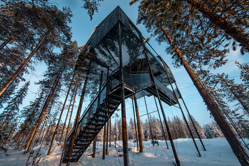 treehotel sweden the 7th room 10 The Newest Room at Swedens Treehotel has an Outdoor Net With a Tree Through It