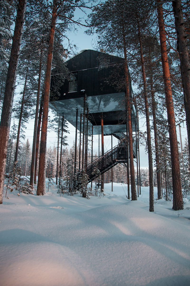 treehotel sweden the 7th room 15 The Newest Room at Swedens Treehotel has an Outdoor Net With a Tree Through It