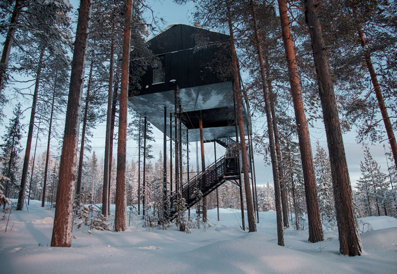 treehotel sweden the 7th room 5 The Newest Room at Swedens Treehotel has an Outdoor Net With a Tree Through It