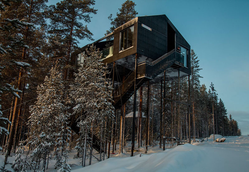 treehotel sweden the 7th room 7 The Newest Room at Swedens Treehotel has an Outdoor Net With a Tree Through It