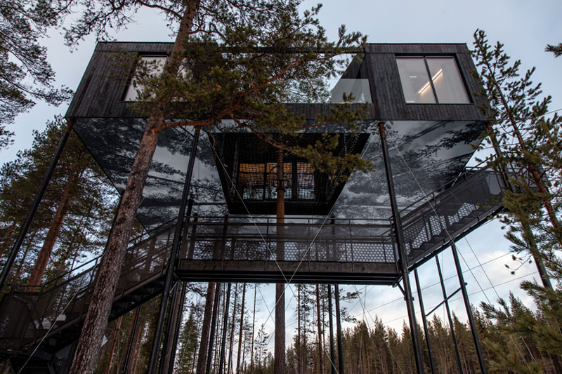 treehotel sweden the 7th room 9 The Newest Room at Swedens Treehotel has an Outdoor Net With a Tree Through It