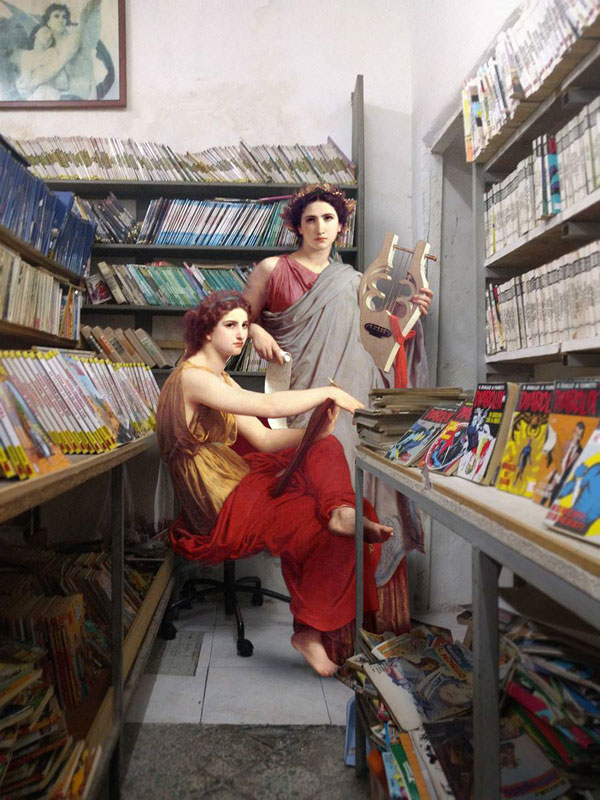 alexey kondakov takes characters from renaissance paintings and photoshops the into the present 7 Guy Takes Characters from Renaissance Paintings and Photoshops Them Into the Present