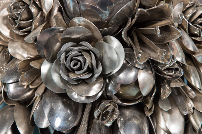 bouquets made from old silverware by ann carrington 8 Ann Carrington Makes Beautiful Bouquets from Old Silverware