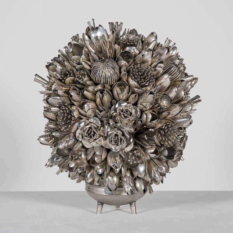 bouquets made from old silverware by ann carrington 9 Ann Carrington Makes Beautiful Bouquets from Old Silverware