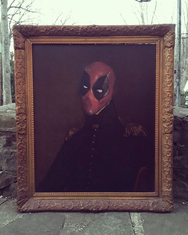 dave pollot paints characters from games movies and shows into discarded paintings 10 Dave Pollot Paints Your Favorite Characters Into Discarded Paintings