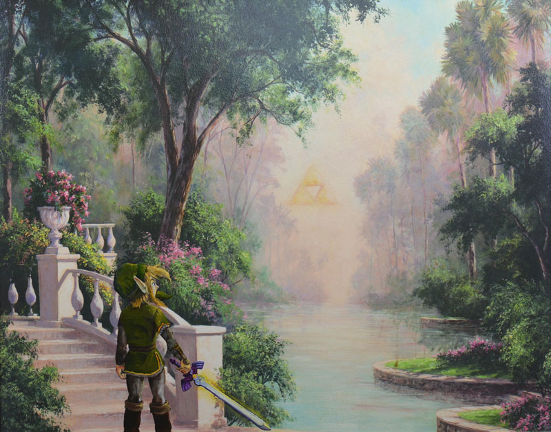 dave pollot paints characters from games movies and shows into discarded paintings 4 Dave Pollot Paints Your Favorite Characters Into Discarded Paintings