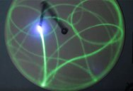 This Light Painting, Double Pendulum Elegantly Demonstrates Chaotic Movement