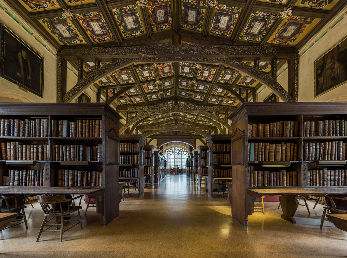 duke humfreys library bodleian libary university of oxford by david iliff 5 This Reading Room at the University of Oxford is One of the Oldest in Europe