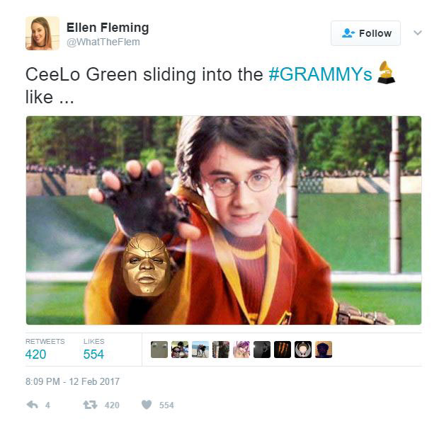 gold ceelo green meme 11 CeeLo Green Wore an All Gold Outfit to the Grammys and the Internet Went to Town