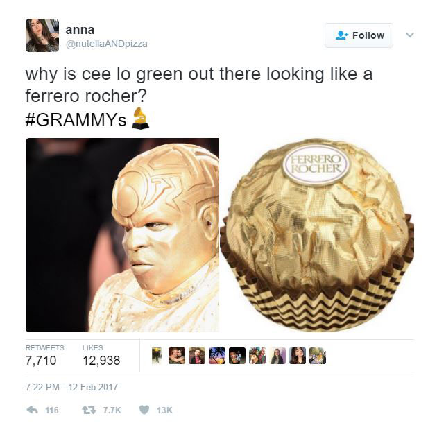 gold ceelo green meme 2 CeeLo Green Wore an All Gold Outfit to the Grammys and the Internet Went to Town