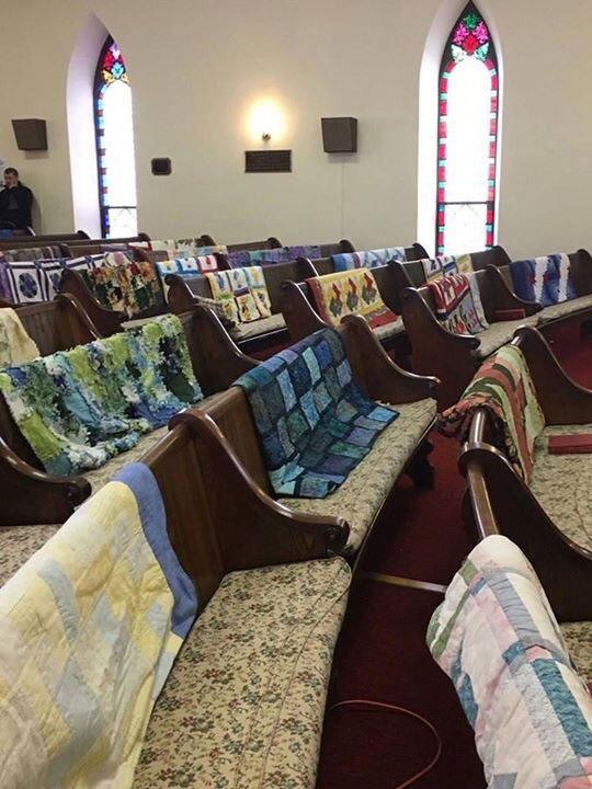 grandmas handmade quilts at her funeral Picture of the Day: Grandmas Handmade Quilts