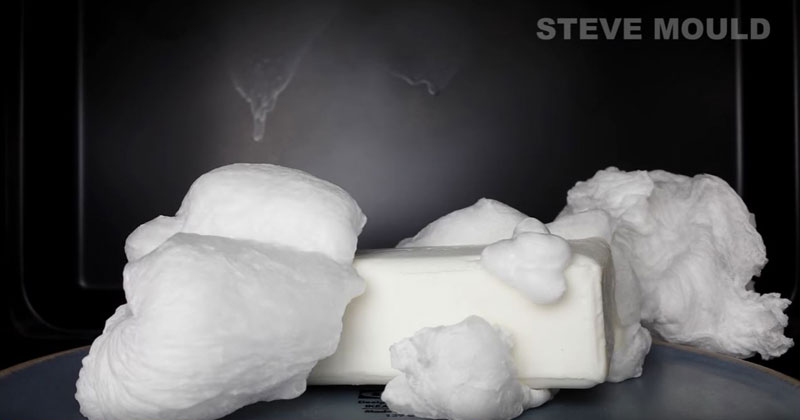 This Is What Happens When You Microwave a Bar of Soap