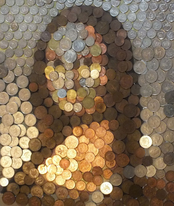 mona lisa made from coins value of art by hayley whittingham 3 Money Lisa