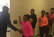 This Teacher Has a Special Handshake with Every Single Student in his Class