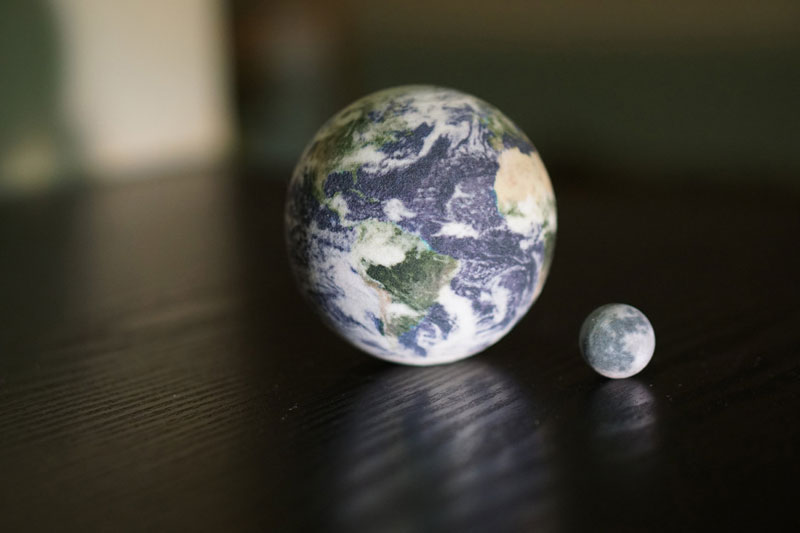 3d printed scale model solar system by little planet factory 1 3D Printed, Scale Model of the Solar System Fits in the Palm of Your Hand