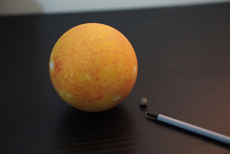 3d printed scale model solar system by little planet factory 10 3D Printed, Scale Model of the Solar System Fits in the Palm of Your Hand