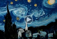 Amazing Artist Paints Van Gogh's Starry Night on Water