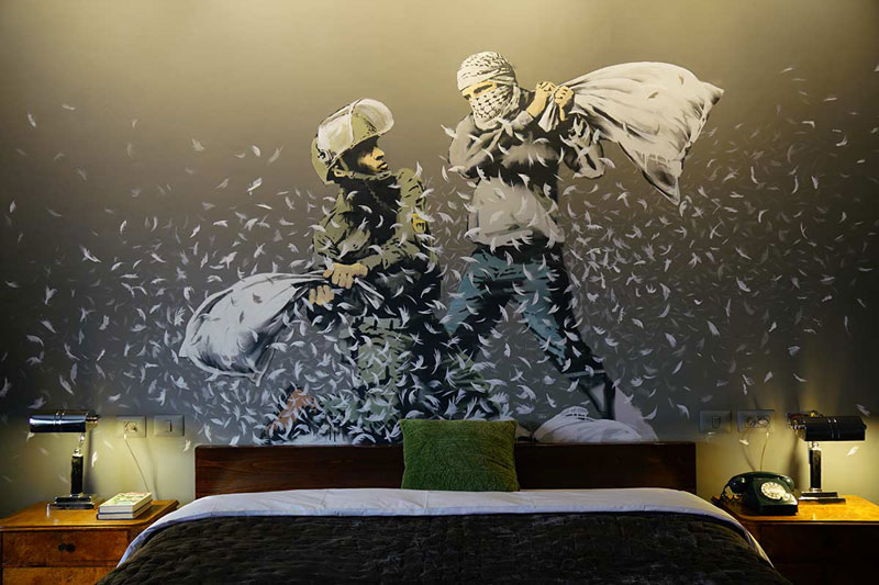 banksy hotel palestine 20 Banksy Opens Art Hotel with Worlds Worst View