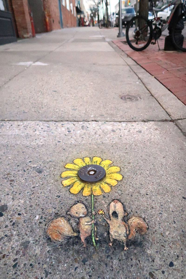 chalk art by david zinn 9 David Zinn Uses Chalk to Brighten Peoples Days